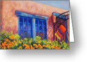 Mexican Pastels Greeting Cards - Orange Berries Greeting Card by Candy Mayer