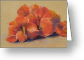 Flower Blossom Pastels Greeting Cards - Orange Blossom I Greeting Card by Marlene Kingman
