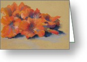 Flower Blossom Pastels Greeting Cards - Orange Blossom II Greeting Card by Marlene Kingman