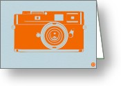 Kids Greeting Cards - Orange camera Greeting Card by Irina  March
