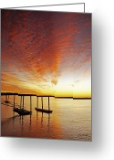Tonemapped Greeting Cards - Orange Glow Greeting Card by Phill  Doherty