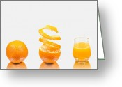 Eatable Greeting Cards - Orange Juice Greeting Card by Gert Lavsen