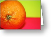 Portraits Photo Greeting Cards - Orange Greeting Card by Linda Sannuti