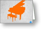 Kids Greeting Cards - Orange Piano Greeting Card by Irina  March