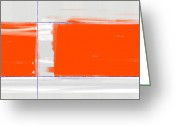 Bold Greeting Cards - Orange Rectangle Greeting Card by Irina  March