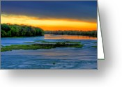 Toledo Greeting Cards - Orange Retreat Greeting Card by Joshua Ball