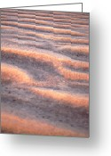 Arid Climate Greeting Cards - Orange Sand Greeting Card by John Foxx