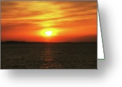 Morn Greeting Cards - Orange Sky Sunrise Greeting Card by Bill Cannon