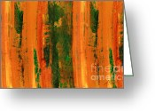 For Collectors Greeting Cards - Orange Stripe Greeting Card by Ann Powell