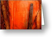 Image Gypsies Greeting Cards - Orange Wall by Michael Fitzpatrick Greeting Card by Olden Mexico