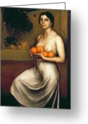 Erotica Painting Greeting Cards - Oranges and Lemons Greeting Card by Julio Romero de Torres