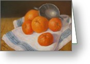 Tangerines Greeting Cards - Oranges and Tangerines Greeting Card by Donelli  DiMaria