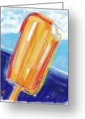 Children Ice Cream Greeting Cards - Orangey Deliciousness Greeting Card by Russell Pierce