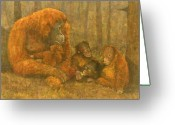 Orangutans Greeting Cards - Orangutans Greeting Card by Steve Mitchell