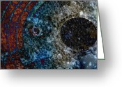 Soundscape Greeting Cards - Orbital Greeting Card by Robert Glover