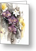 Fine American Art Greeting Cards - ORCHID 13 Elena Yakubovich Greeting Card by Elena Yakubovich