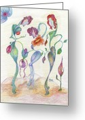 Mila Ryk Greeting Cards - Orchids Greeting Card by Mila Ryk