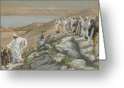 Jesus Painting Greeting Cards - Ordaining of the Twelve Apostles Greeting Card by Tissot