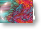 Music Inspired Art Greeting Cards - Order Of The Universe Greeting Card by Linda Sannuti