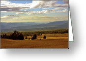 Cascades Greeting Cards - Oregon - Land of the setting sun Greeting Card by Christine Till