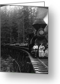 Train Track Greeting Cards - Oregon: Logging Train Greeting Card by Granger