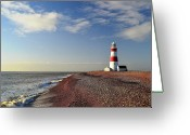 Horizon Over Water Greeting Cards - Orford Ness Lighthouse Greeting Card by Photo by Andrew Boxall