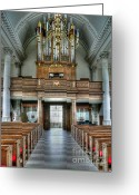 Westminster College Greeting Cards - Organ at St Mary of Aldermanbury Greeting Card by David Bearden