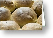 Kitchen Photos Greeting Cards - Organic Bread Rolls Greeting Card by Frank Tschakert
