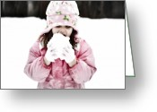 Snow-cap Greeting Cards - Organic Snow Cone Greeting Card by Gwyn Newcombe