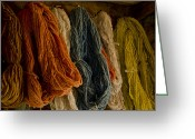 Yarn Greeting Cards - Organic Yarn and Natural Dyes Greeting Card by Wilma  Birdwell