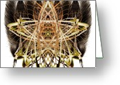 Shamanic Photo Greeting Cards - Organics - feather 006 Greeting Card by Joe Albright