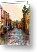 John Kolenberg Greeting Cards - Organos Watercolor Greeting Card by John Kolenberg