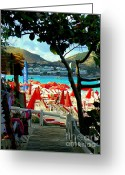 Tunnels Greeting Cards - Orient Beach Peek Greeting Card by Karen Wiles