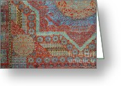 Rugs Greeting Cards - Oriental rug detail. Greeting Card by John Greim