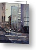 Architecture Painting Greeting Cards - Oriental Theater - Chicago Greeting Card by Ryan Radke
