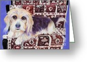 Lapdog Greeting Cards - Oriental Toy Greeting Card by Pat Saunders-White            