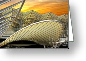 Construction Greeting Cards - Oriente Station Greeting Card by Carlos Caetano