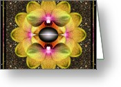 Red Orchid Blooms Greeting Cards - Origin Point Greeting Card by Bell And Todd