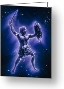 Swordsman Greeting Cards - Orion Constellation Greeting Card by Joe Tucciarone