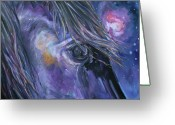 Equines Painting Greeting Cards - Orion Greeting Card by Diane Williams