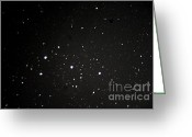 Startrails Greeting Cards - Orions Belt Greeting Card by Stephen Whisman