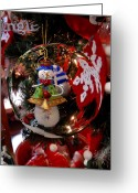 Photographs With Red. Greeting Cards - Ornament 1 Greeting Card by Joyce StJames