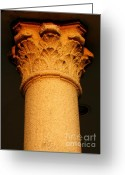 Building Detail Greeting Cards - Ornamental Column Greeting Card by Yali Shi