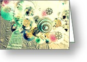 Diane Montana Jansson Greeting Cards - ornamental I Greeting Card by Diane montana Jansson