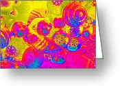 Diane Montana Jansson Greeting Cards - ornamental IV Greeting Card by Diane montana Jansson