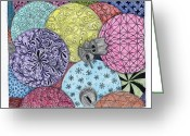 Paula Dickerhoff Greeting Cards - Ornaments Galore in Color Greeting Card by Paula Dickerhoff