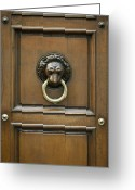 Door Sculpture Greeting Cards - Ornate Door Knocker Greeting Card by Rob Tilley