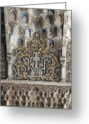 Andalucia Greeting Cards - Ornate Plasterwork Greeting Card by David Kleinsasser
