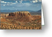 Santa Fe Digital Art Greeting Cards - Orphan Mesa Greeting Card by Lou  Novick