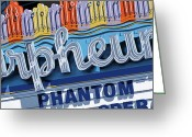 Reproductions Greeting Cards - Orpheum Theater Greeting Card by Anthony Ross